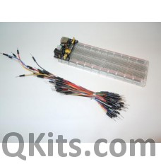 Bread Board, Power Supply and Jumper Wire Kit image