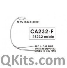 Female DB9 RS232 Cable  6' image