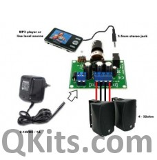 5  x 5W Amplifier kit for MP3 Player image