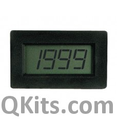 3 1/2 digit, digital panel meter image