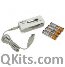 USB Travel Charger (for 2 AA or AAA) image
