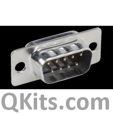 DB9 connector, male image