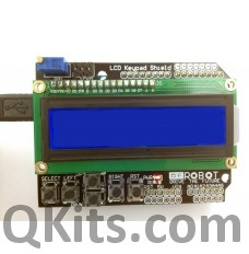 2 x 16 LCD shield display with buttons