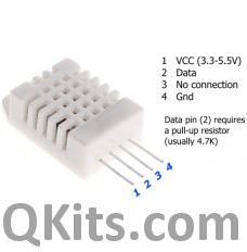 Picture of DHT22 digital temperature and humidity sensor