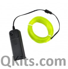Electroluminescent Wire glow green