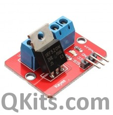 IRF520 Mosfet mounted