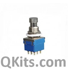 3PDT Momentary Stomp Switch PSB-42-302