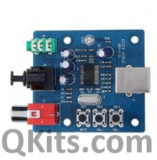 PCM2704 USB to S/PDIF Converter DAC top view
