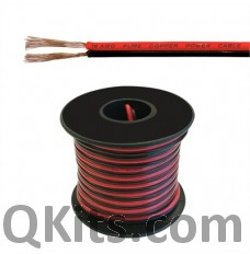 Low Voltage DC Power Cable, 25AWG, 25ft