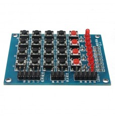 4 x 4 mini push button matrix with 8 leds