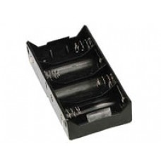 Battery Holder for 4 D Batteries (with soldering tags) image