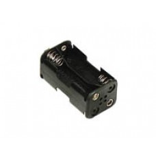 4 AA Battery Holder with snap terminals image