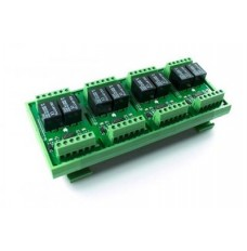 Eight Channel 24VDC Relay Card on DIN Rail image