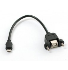Panel Mount USB Cable - B Female to Micro-B Male image