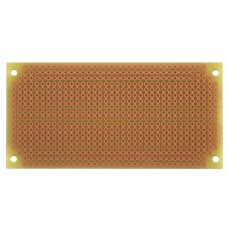 SB404 Solderable PC BreadBoard, 4 Mounting Holes, Matches BB400 breadboard with Power Rails