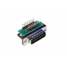 Male DB15 to breadboard adapter right angle