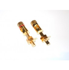 Gold Plated Loudspeaker Terminal Block Red and Black LSTG