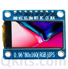 0.96 inch IPS interface Full Color TFT Display Module ST7735 SPI 80X160 ATF
