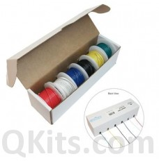 Hookup Wire Kit, 6 Colours, 22AWG, Solid Core image