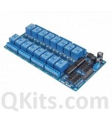 16 relays on one card, logic level inputs, 5 volt coils. image