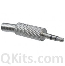 Metal stereo plug. 25 x 9mm dia. Cable dia. 4.5mm 24-322 MODE