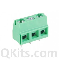 3 Pole PCB screw type connector LARGE. image