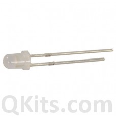 5mm White Diffused LED 10 pack