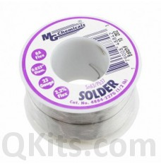 Leaded Solder Sn63 / Pb37 1/2lb 0.025 inch Dia image