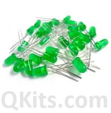 5mm Green Diffused LED 50 pack