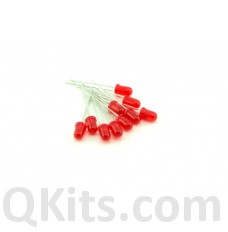 5mm RED Diffused LEDs 10 pack