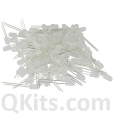 5mm White Diffused LED 50 pack