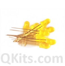 5mm yellow diffused LED 10 piece pack