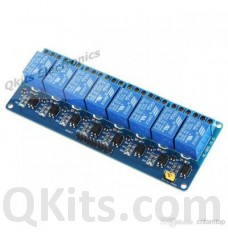 8 relays on one board, logic level inputs. image