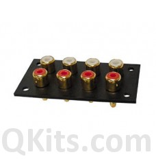 4 X 2P Gold Plated RCA Jacks image