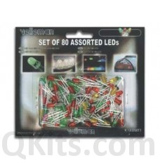 Set of 80 assorted LEDs image
