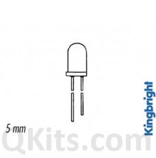 5mm White Water Clear LED (10 pack) image
