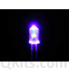 5mm Purple Water Clear LED (10 pak) image