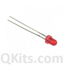 3mm Red Diffused LED (10 pcs) image