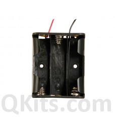 3 AA Battery Holder with Leads