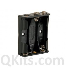 BATTERY HOLDER FOR 3 x AA-CELL (WITH SNAP TERMINALS