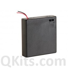 4 AA Battery Holder with Switch and wire leads