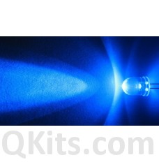 5mm Blue Water Clear LED 50 pieces