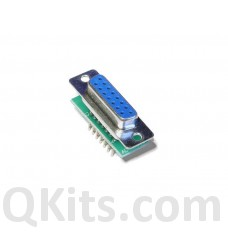 Female DB15 to breadboard adapter