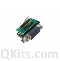 Female DB15 to breadboard adapter right angle