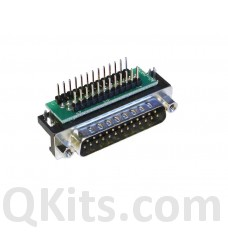 DB 25 to breadboard adapter right angle