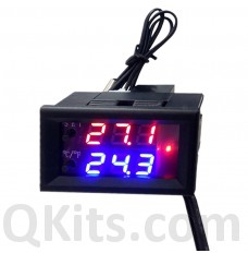 Microcomputer Adjustable Electronic Digital Temperature Thermostat Switch   DC 12V or DC 24V