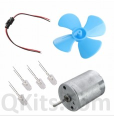 12 volt wind generator kit with 4 leaf propeller