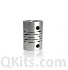 5mm to 5mm shaft coupler image, for steppers