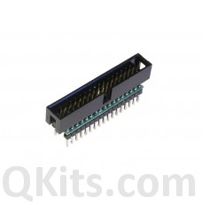 IDC to ribbon cable to breadboard adapter 34 pin male