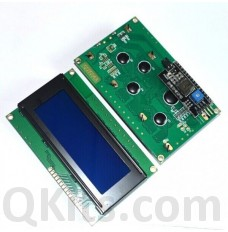 20 x 4 line LCD display with blue backlight